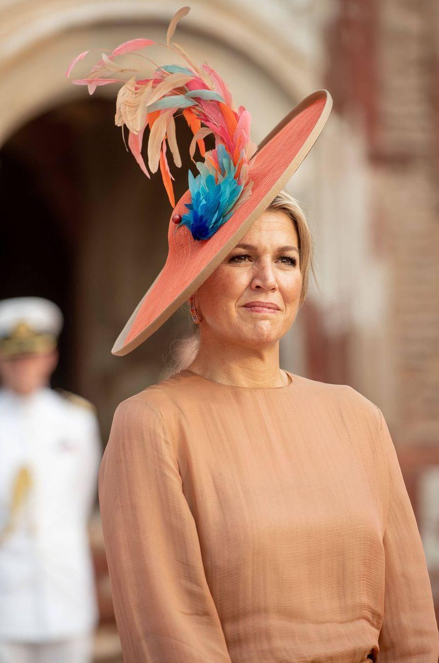 La reine Maxima des Pays-Bas en Inde, le 15 octobre 2019
