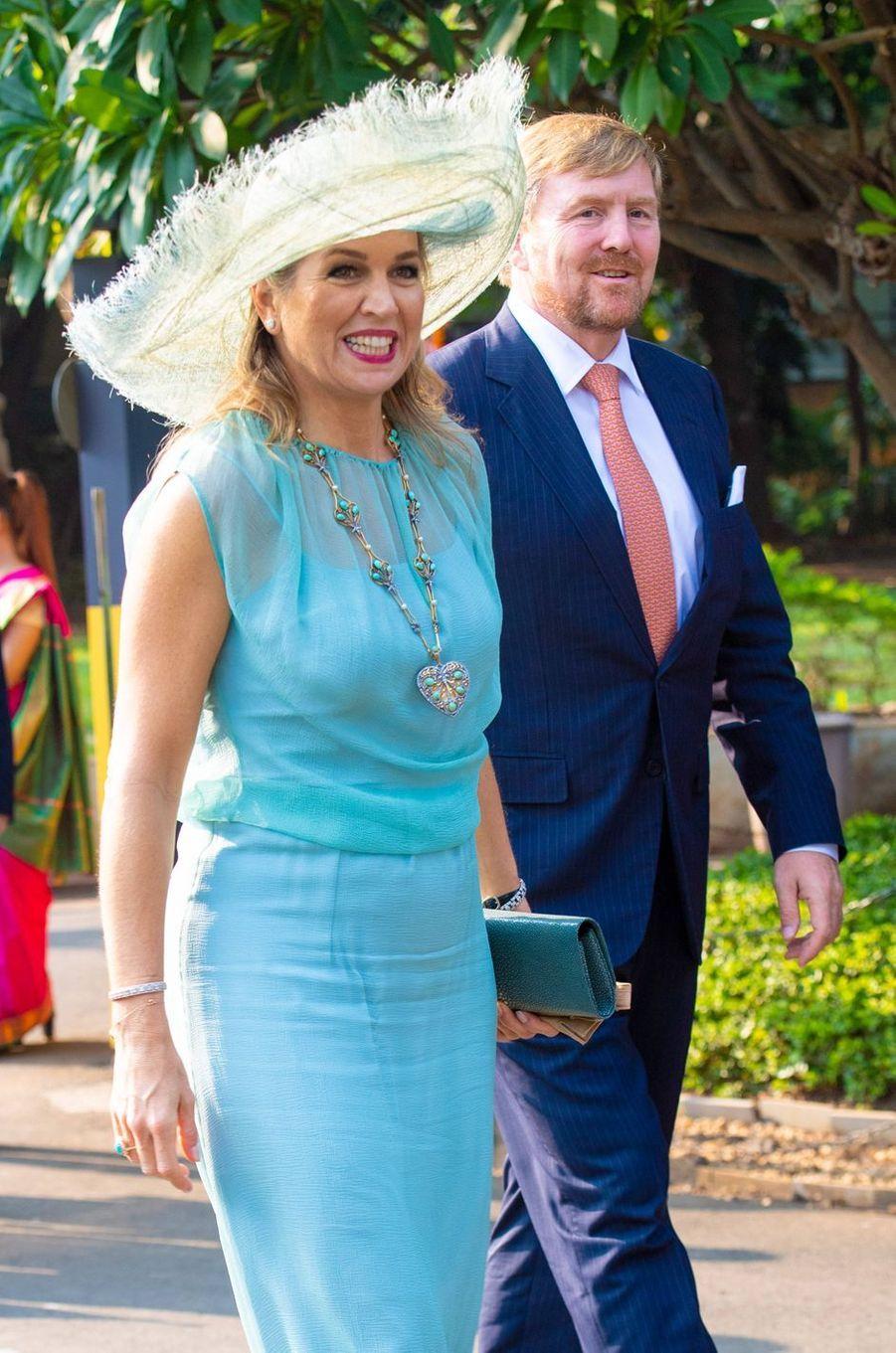 La reine Maxima des Pays-Bas en Inde, le 16 octobre 2019