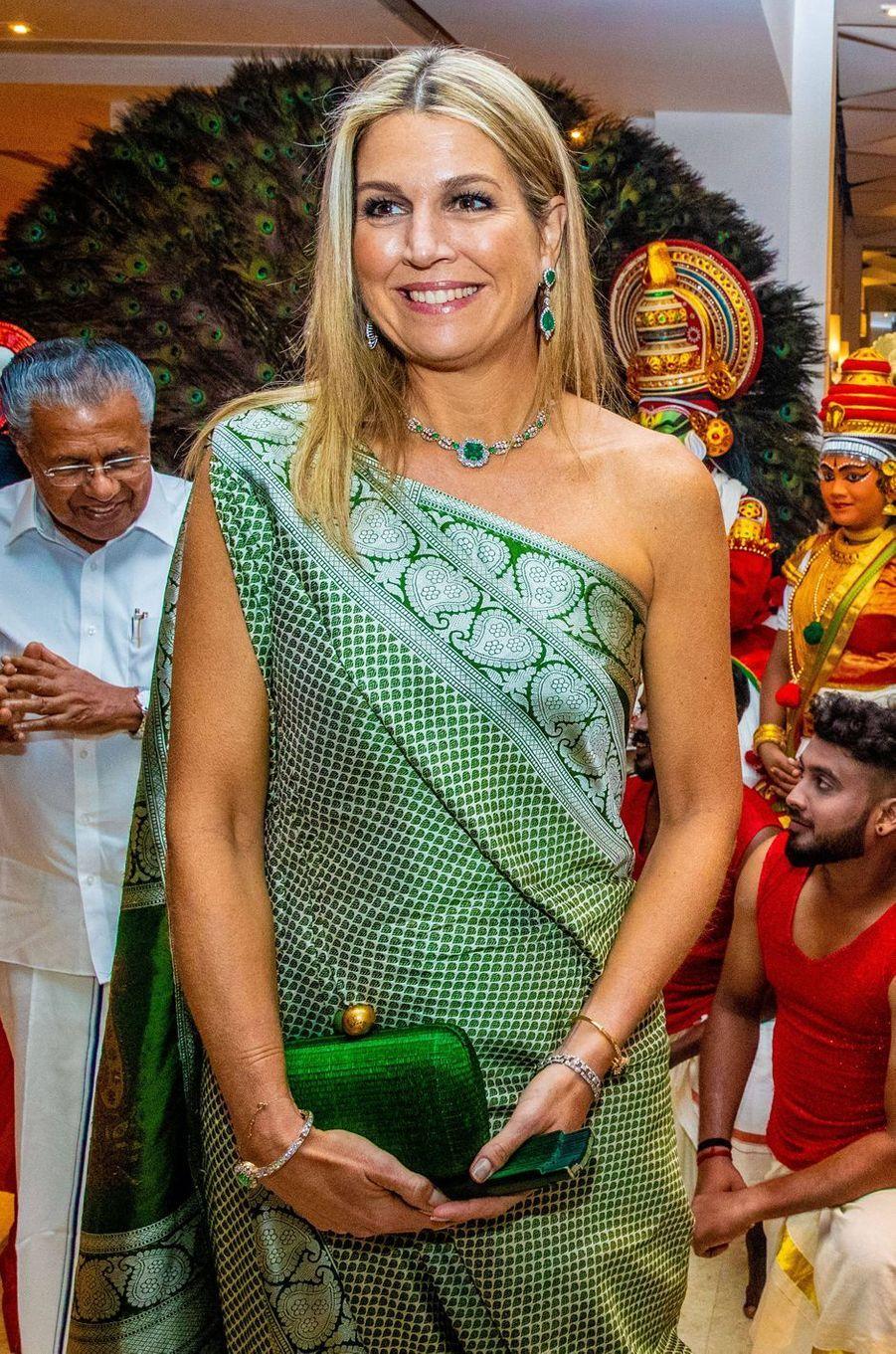 La reine Maxima des Pays-Bas en Inde, le 17 octobre 2019