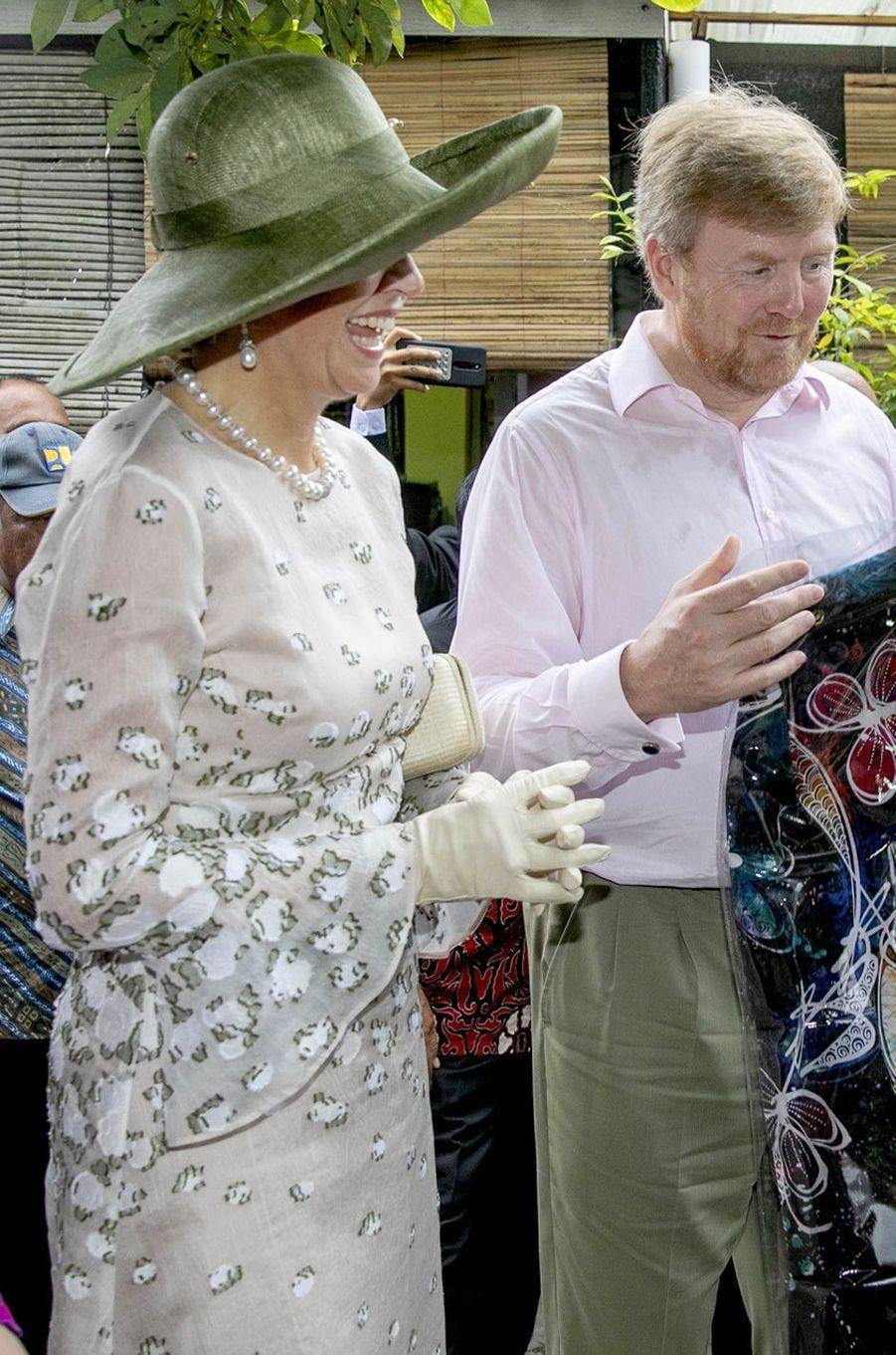 La reine Maxima des Pays-Bas en Indonésie, le 11 mars 2020