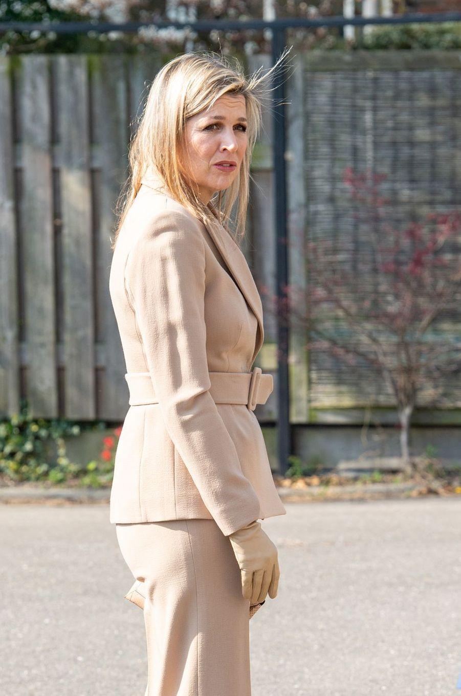 La reine Maxima des Pays-Bas, le 27 mars 2020 à Honselersdijk