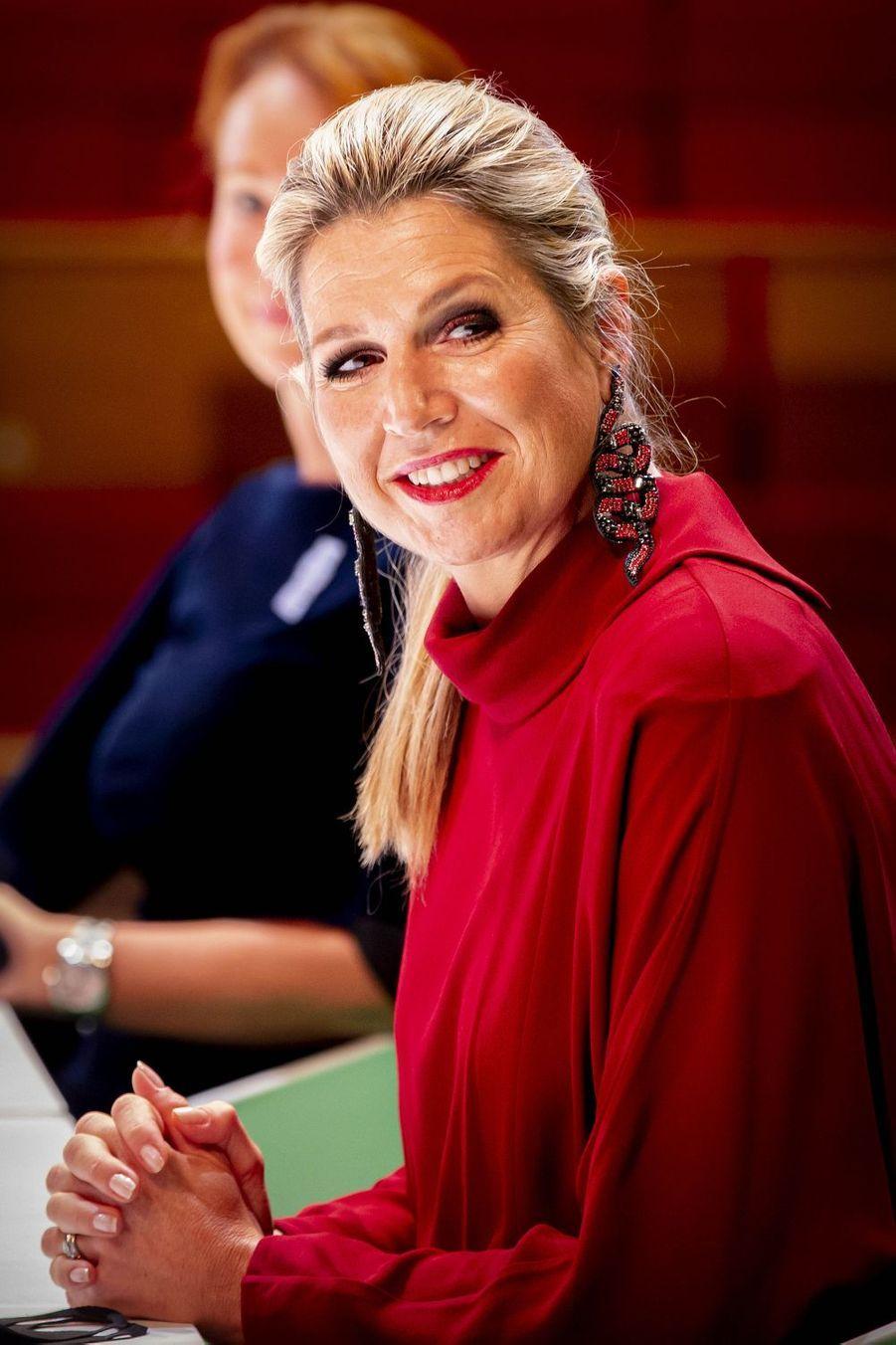 La reine Maxima des Pays-Bas à Utrecht, le 7 octobre 2020