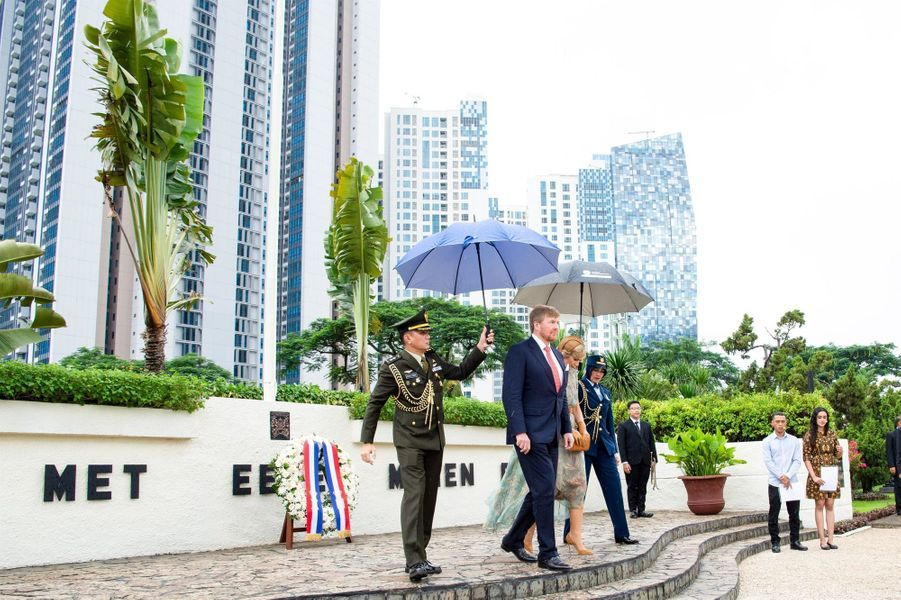 La reine Maxima et le roi Willem-Alexander des Pays-Bas à Jakarta, le 10 mars 2020