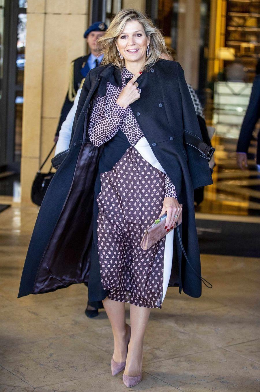 La reine Maxima des Pays-Bas à Amman, le 12 février 2019