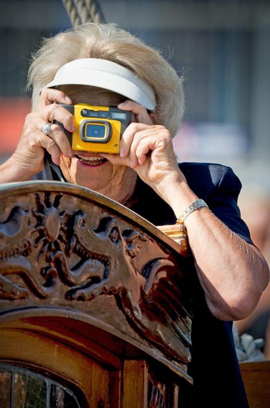 L'ex-reine Beatrix des Pays-Bas au Sail Amsterdam, le 22 août 2015