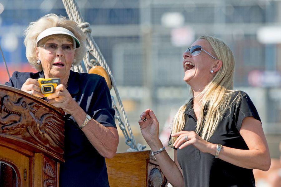 L'ex-reine Beatrix des Pays-Bas et la princesse Mabel au Sail Amsterdam, le 22 août 2015