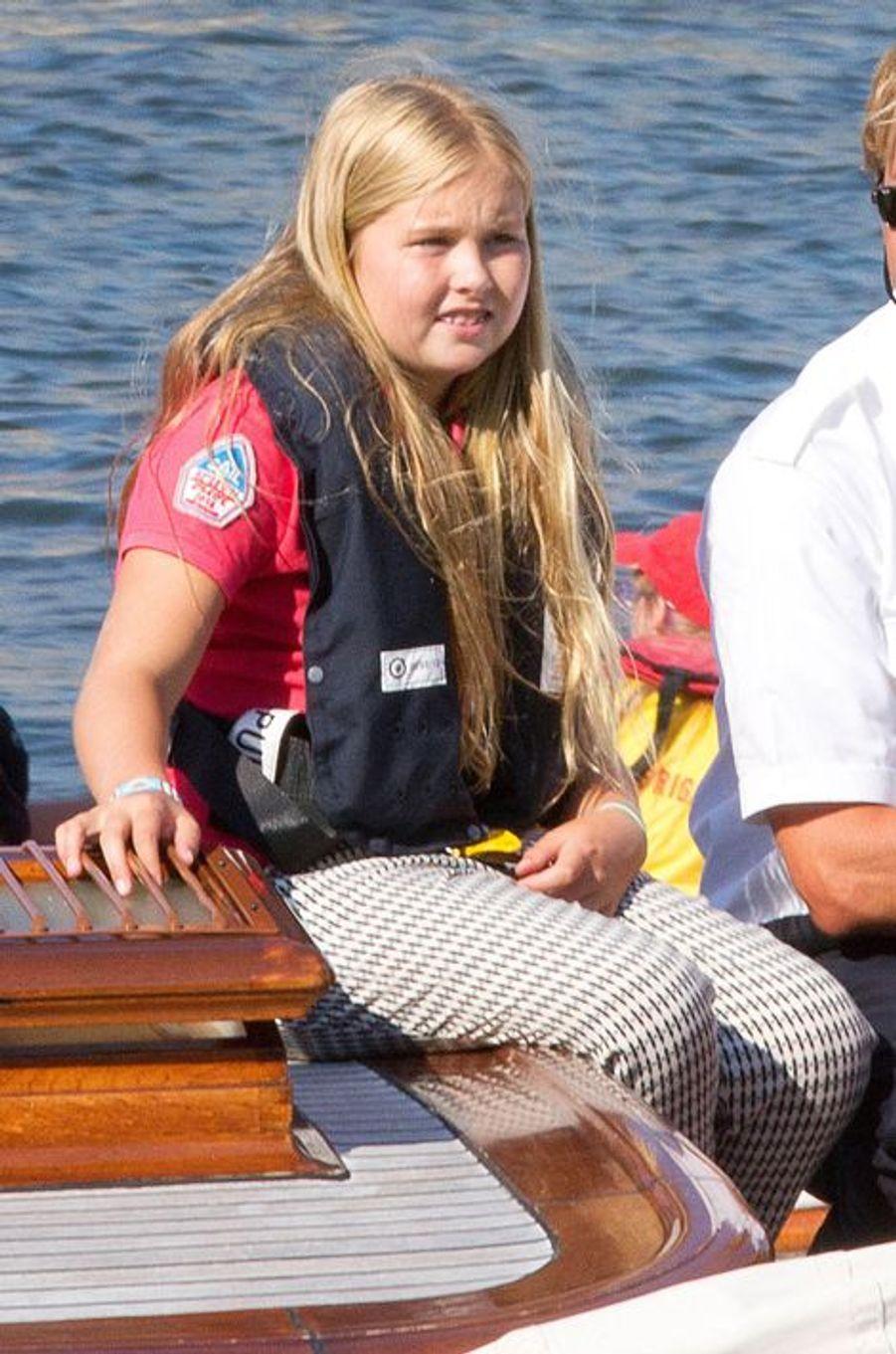 La princesse Catharina-Amalia des Pays-Bas au Sail Amsterdam, le 22 août 2015