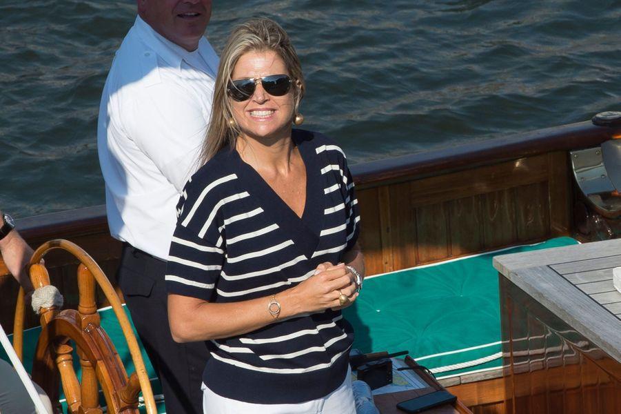 La reine Maxima des Pays-Bas au Sail Amsterdam, le 22 août 2015