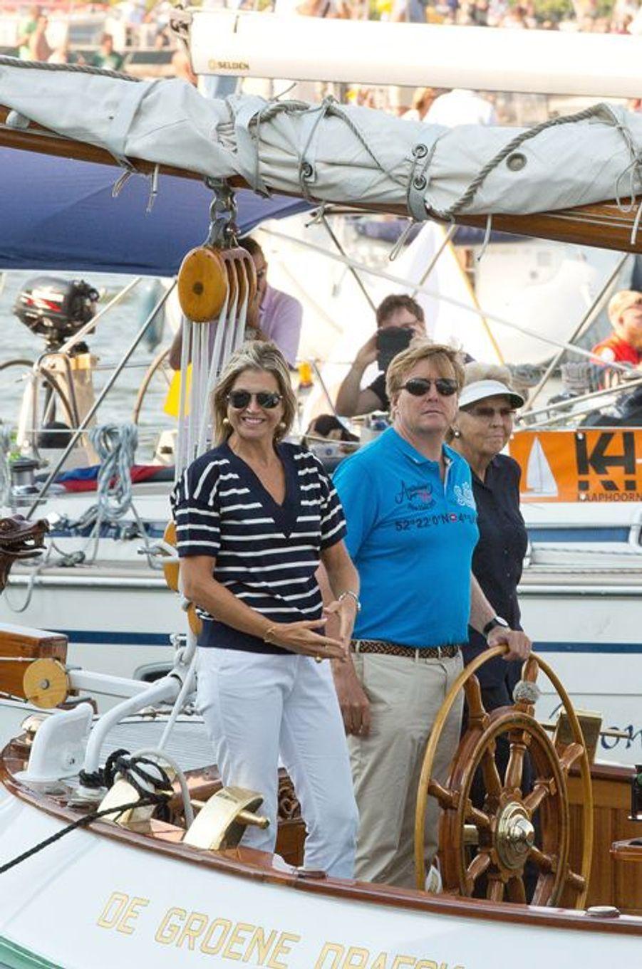 La reine Maxima et le roi Willem-Alexander des Pays-Bas au Sail Amsterdam, le 22 août 2015