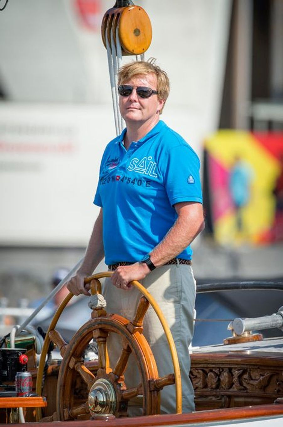 Le roi Willem-Alexander des Pays-Bas au Sail Amsterdam, le 22 août 2015