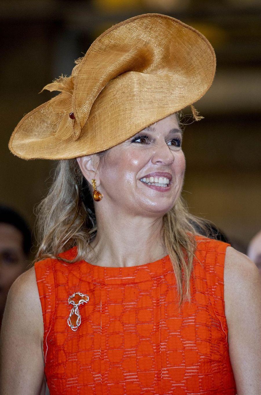 Le bibi de la reine Maxima des Pays-Bas sur l'île de Curaçao le 1er juillet 2018