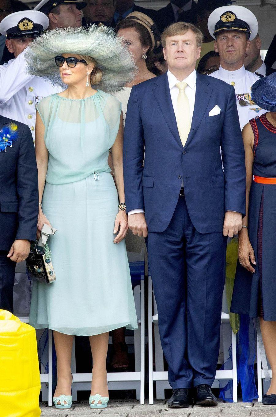 La reine Maxima des Pays-Bas sur l'île de Curaçao le 2 juillet 2018
