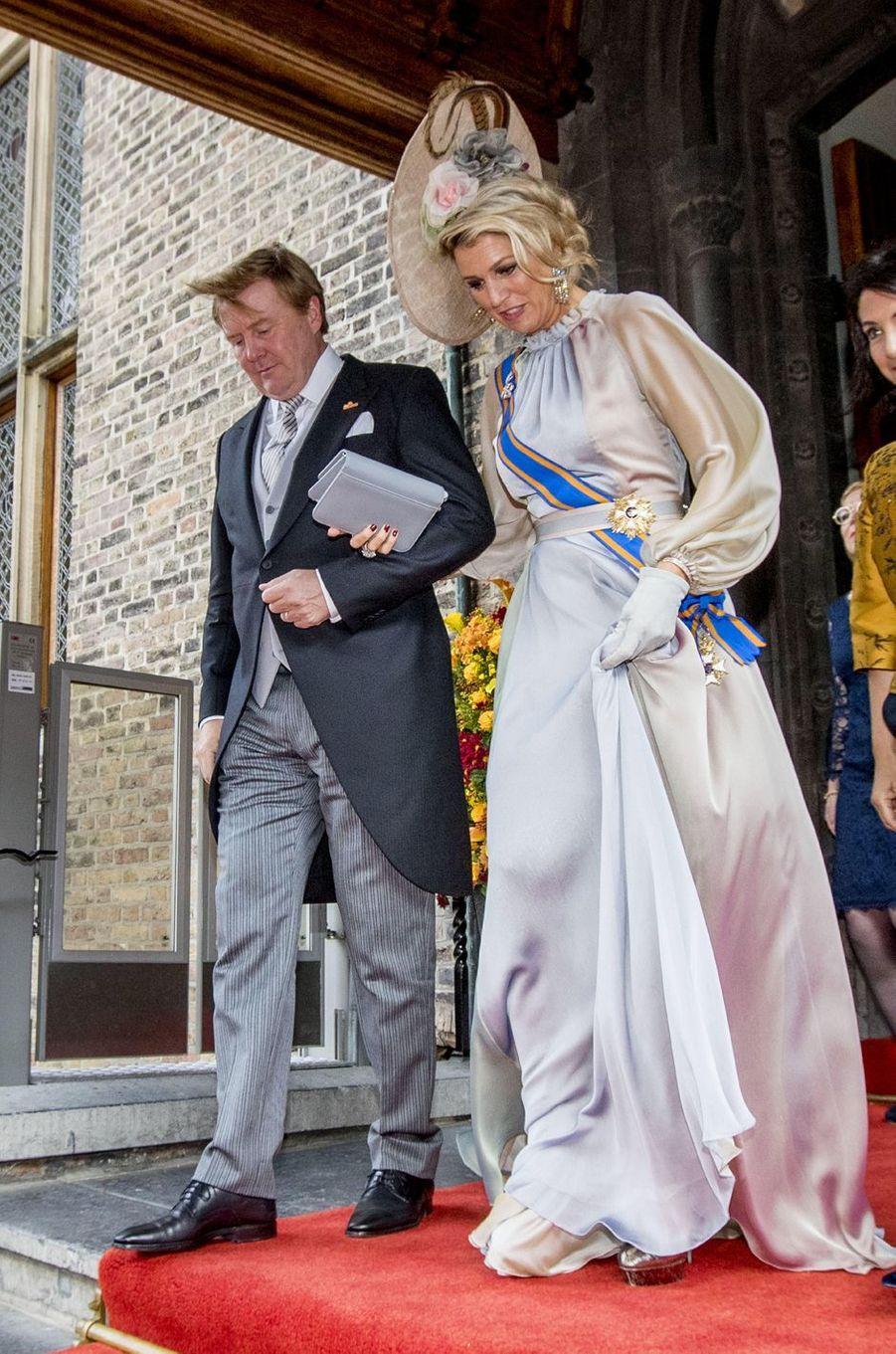 La reine Maxima et le roi Willem-Alexander des Pays-Bas à La Haye, le 18 septembre 2018