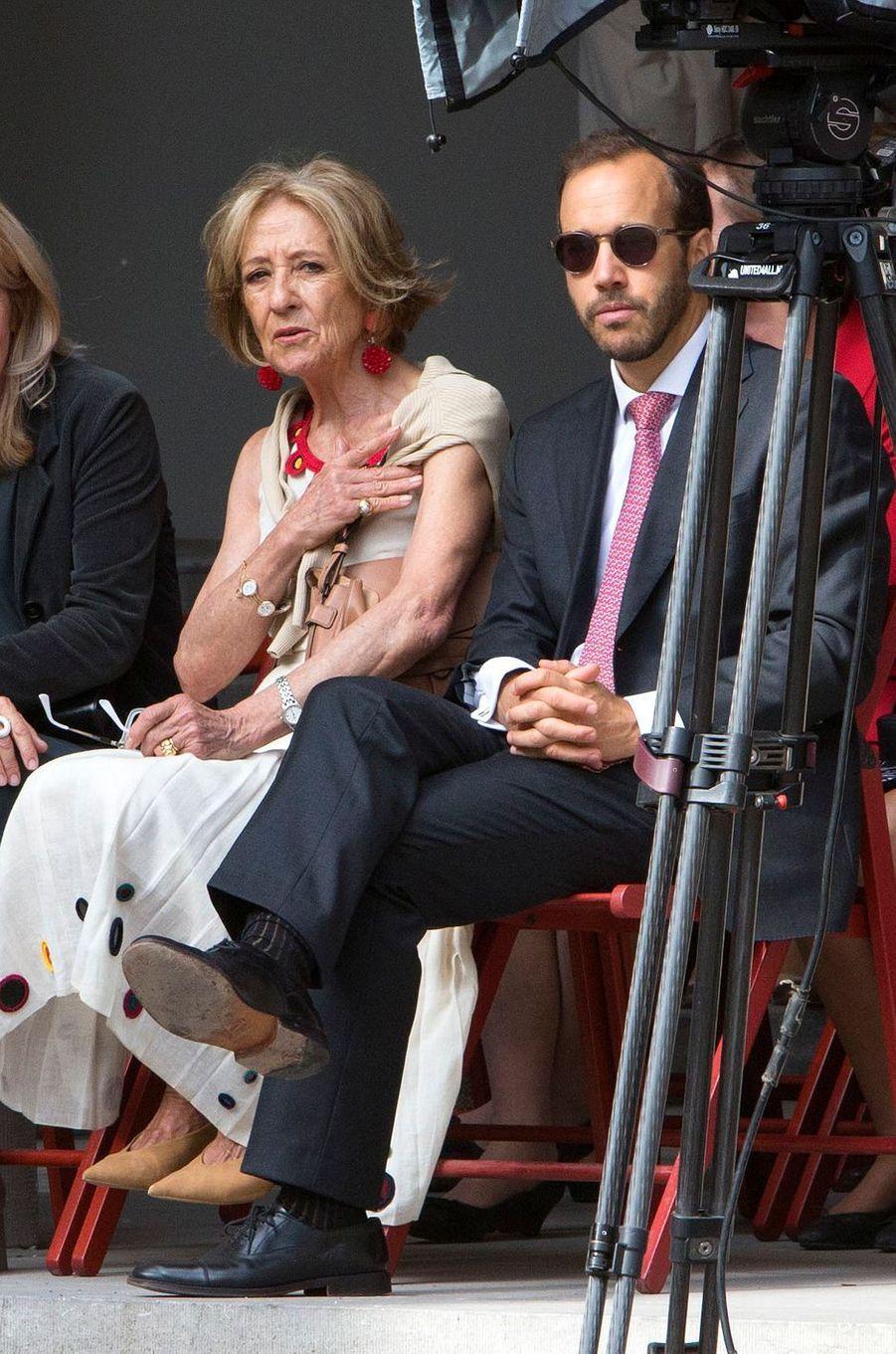 Maria del Carmen Cerruti Carricart et Juan Zorreguieta, la mère et l'un des frères de la reine Maxima des Pays-Bas, à La Haye le 18 septembre 2018
