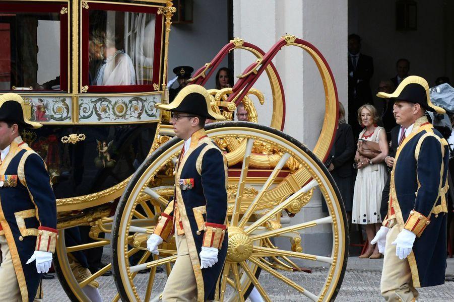 Maria del Carmen Cerruti Carricart, la mère de la reine Maxima des Pays-Bas, à La Haye le 18 septembre 2018