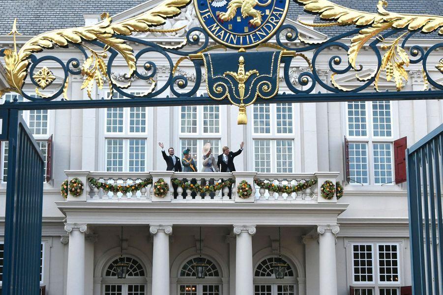 La reine Maxima, le roi Willem-Alexander, la princesse Laurentien et le prince Constantijn des Pays-Bas à La Haye, le 18 septembre 2018
