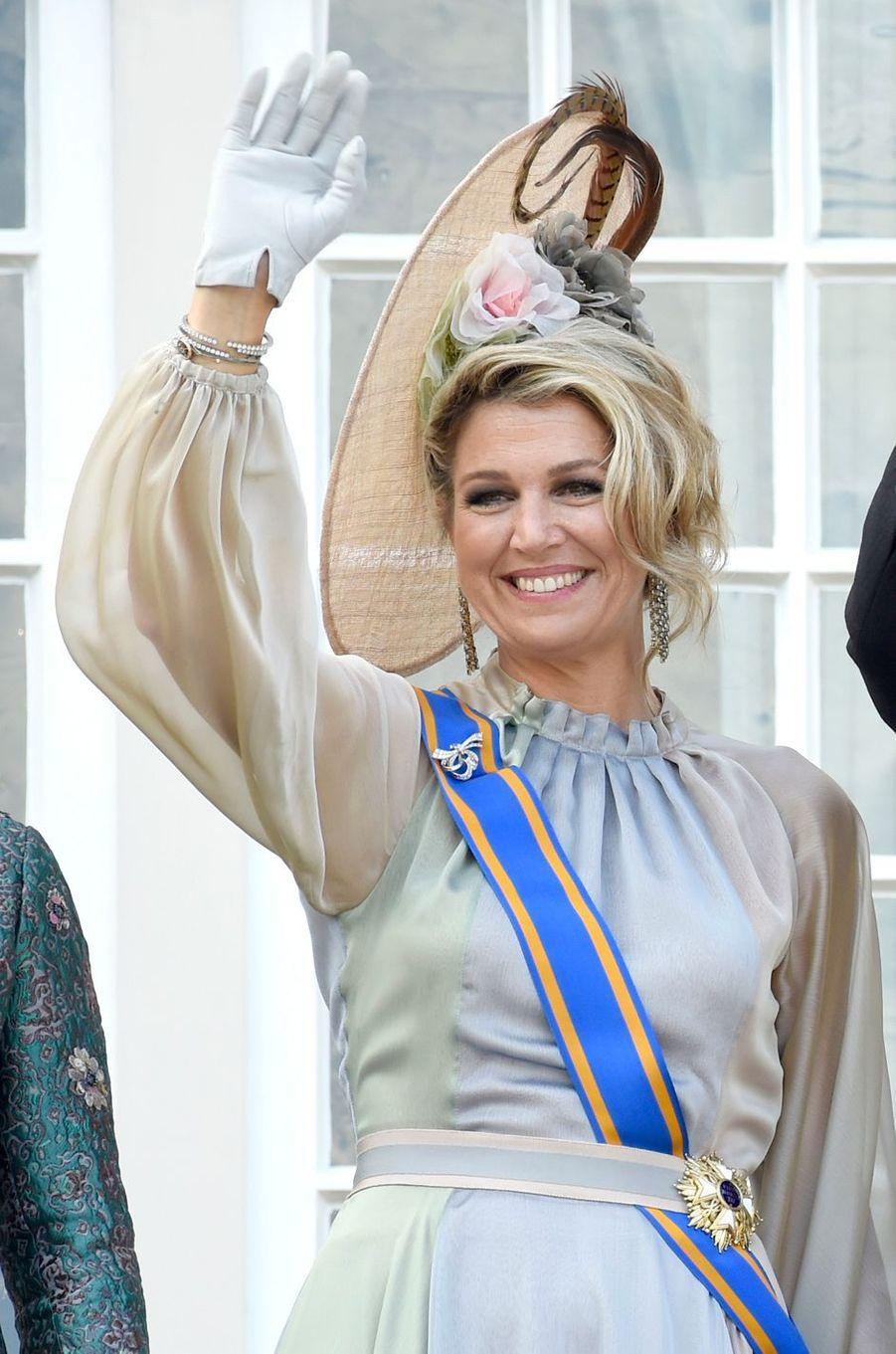 La reine Maxima des Pays-Bas à La Haye, le 18 septembre 2018