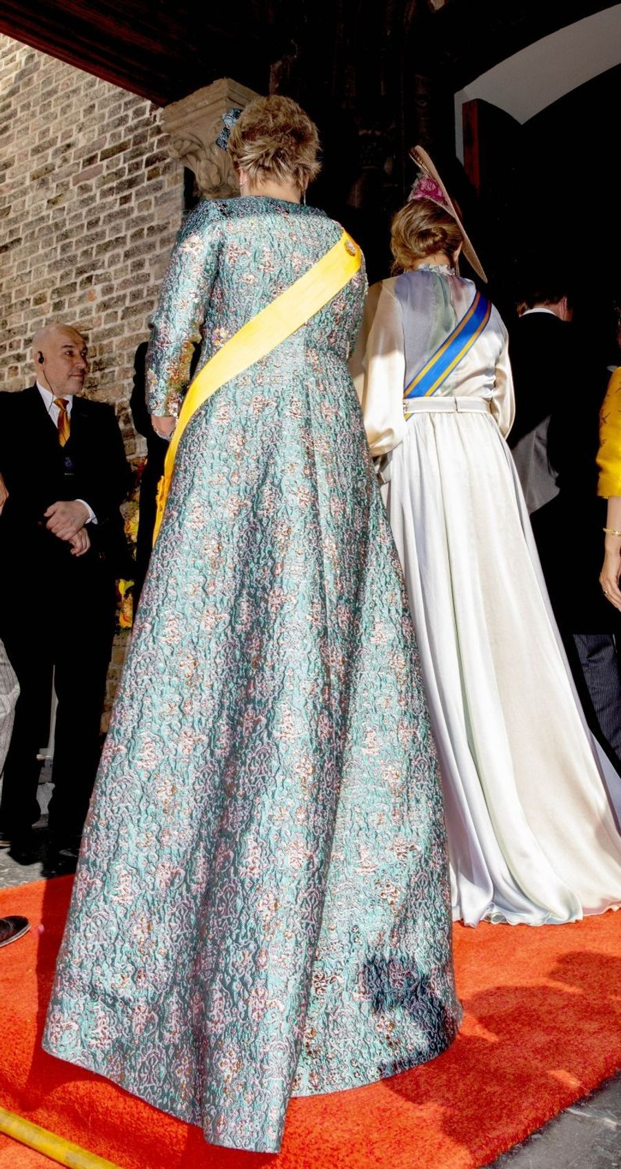 La reine Maxima des Pays-Bas avec la princesse Laurentien à La Haye, le 18 septembre 2018