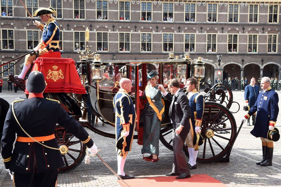 La princesse Laurentien et le prince Constantijn des Pays-Bas à La Haye, le 18 septembre 2018, jour du Prinsjesdag