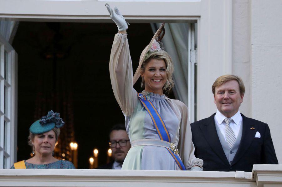 La reine Maxima, le roi Willem-Alexander des Pays-Bas et la princesse Laurentien à La Haye, le 18 septembre 2018