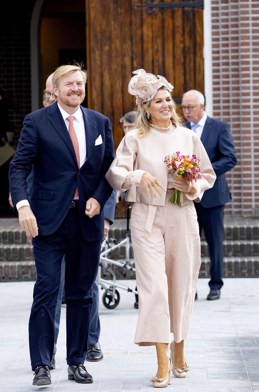 La reine Maxima et le roi Willem-Alexander des Pays-Bas à Hoogeveen, le 18 septembre 2019
