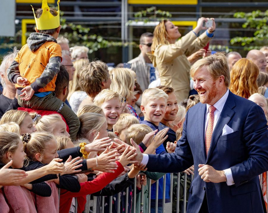 Le roi Willem-Alexander des Pays-Bas dans le Drenthe, le 18 septembre 2019