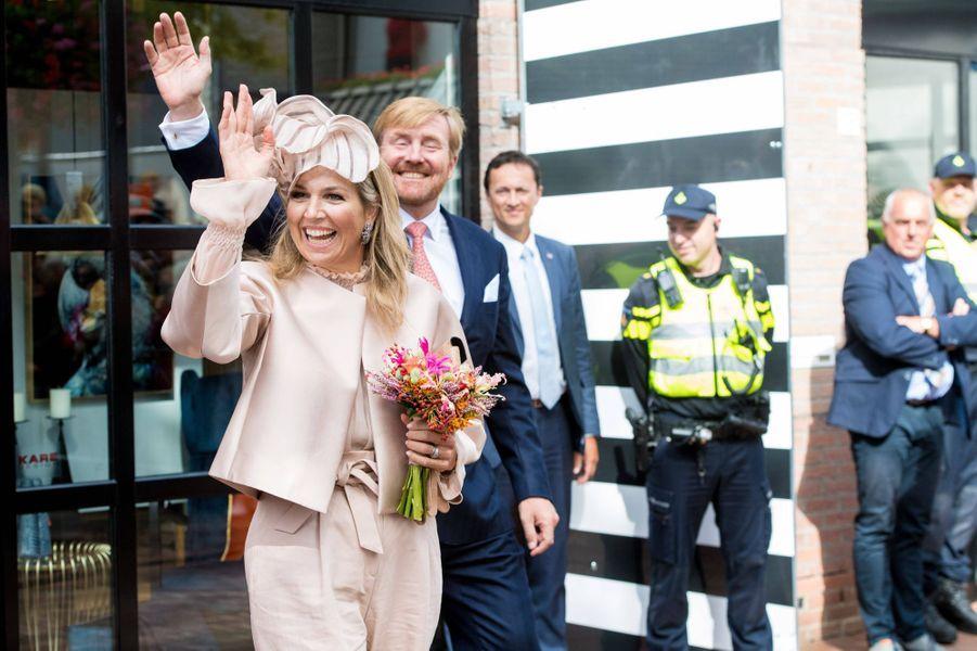 La reine Maxima et le roi Willem-Alexander des Pays-Bas dans le Drenthe, le 18 septembre 2019
