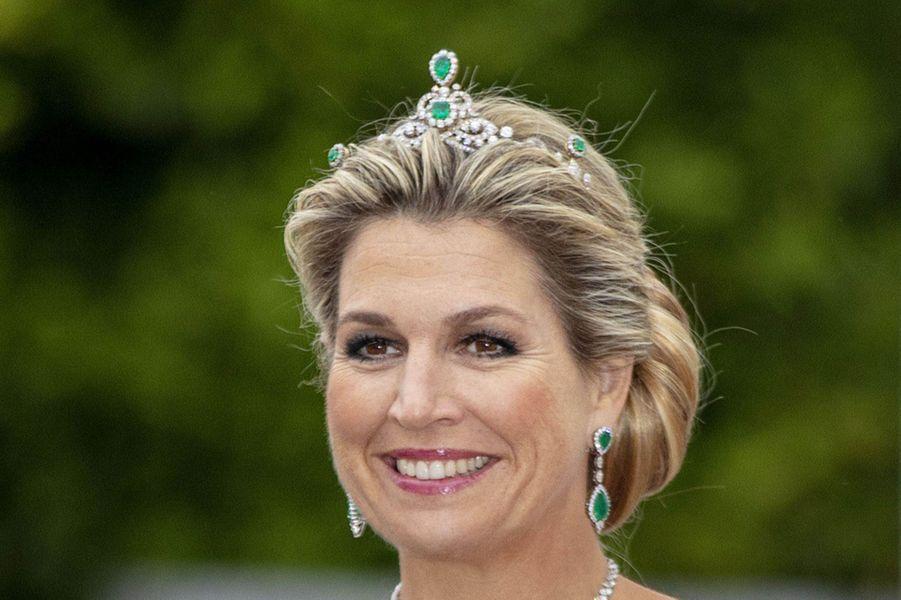 Le diadème de la reine Maxima des Pays-Bas à Dublin, le 12 juin 2019