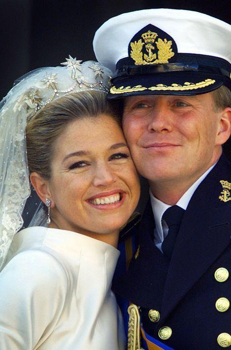 La princesse Maxima épouse le prince Willem-Alexander des Pays-Bas, le 2 février 2002