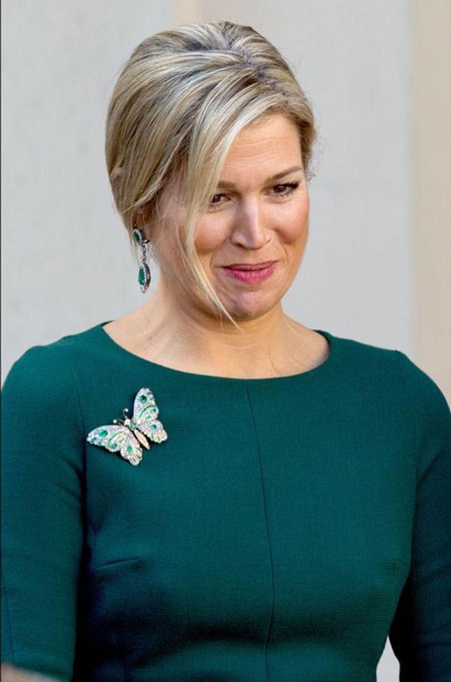 La reine Maxima des Pays-Bas, le 24 mars 2014