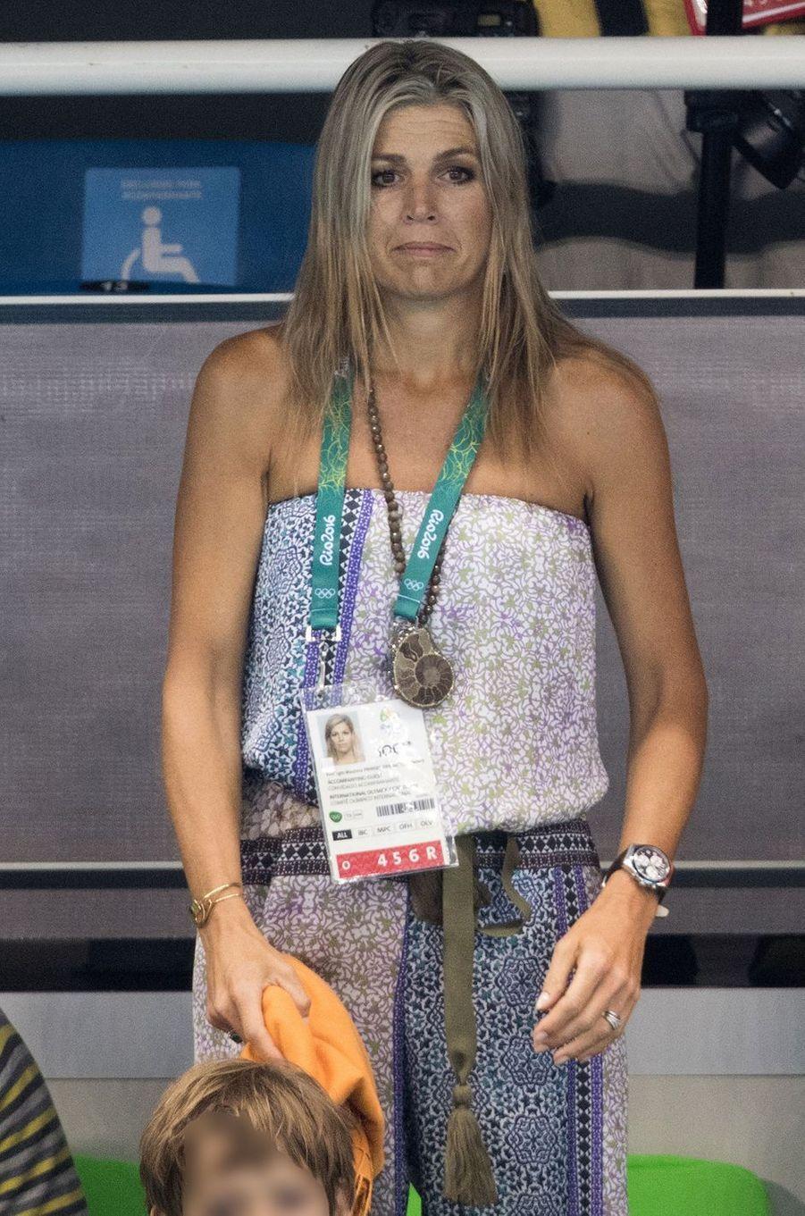 La reine Maxima des Pays-Bas aux JO de Rio, le 13 août 2016