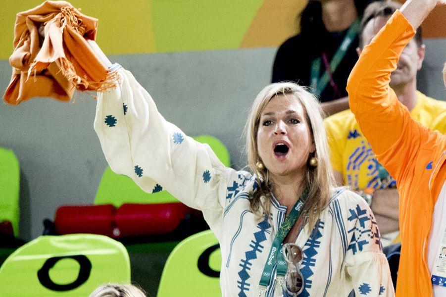 La reine Maxima des Pays-Bas aux JO de Rio, le 15 août 2016