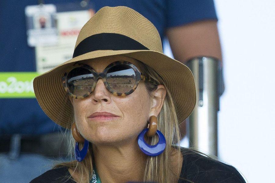 La reine Maxima des Pays-Bas aux JO de Rio, le 17 août 2016