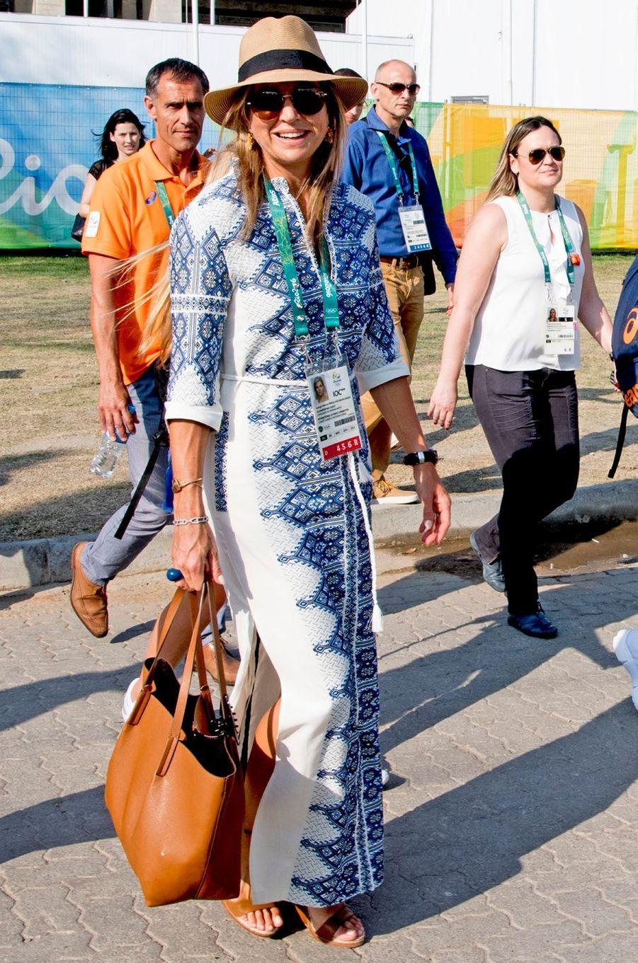La reine Maxima des Pays-Bas aux JO de Rio, le 19 août 2016