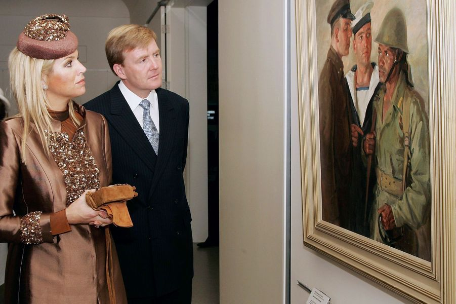 La princesse Maxima avec le prince Willem-Alexander des Pays-Bas à Camberra, le 23 octobre 2006