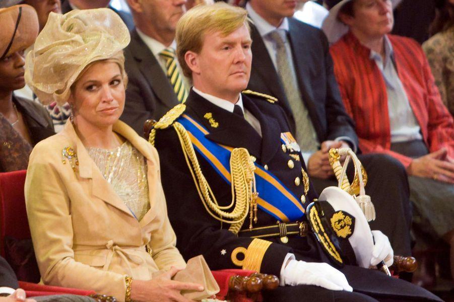 La princesse Maxima avec le prince Willem-Alexander des Pays-Bas à La Haye, le 18 septembre 2007