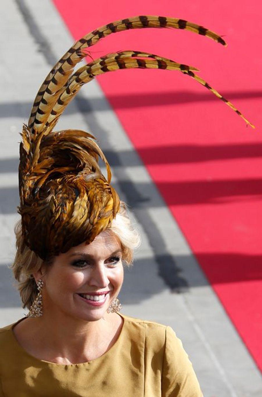 La princesse Maxima des Pays-Bas à Luxembourg, le 20 octobre 2012