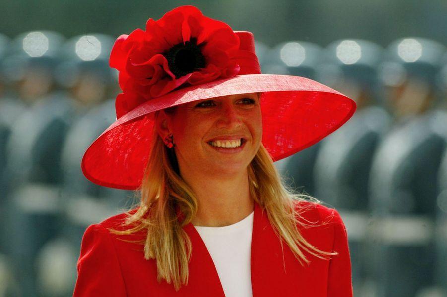 La princesse Maxima des Pays-Bas à Santiago-du-Chili, le 19 mars 2003