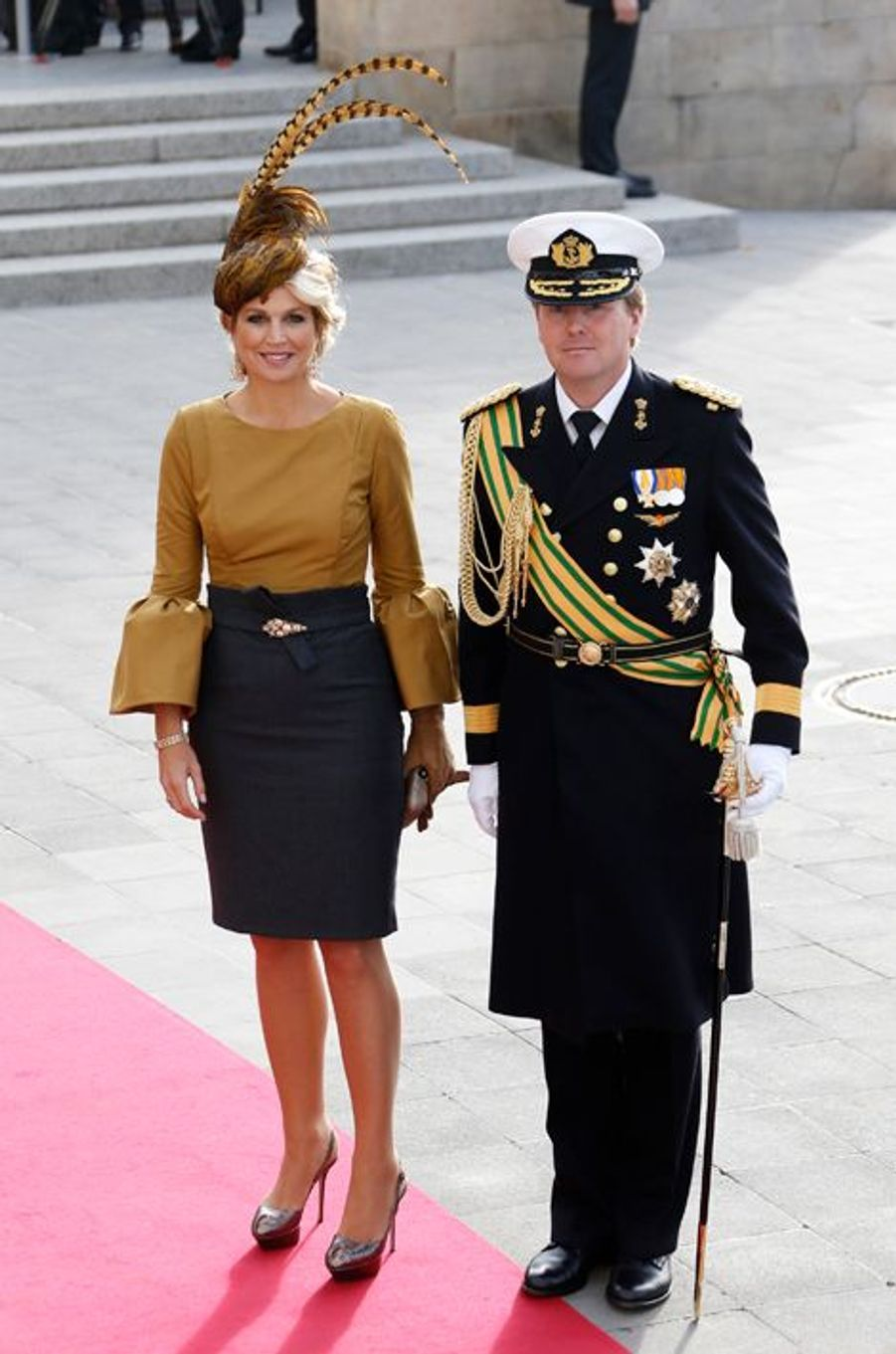 La princesse Maxima et le prince Willem-Alexander à Luxembourg, le 20 octobre 2012