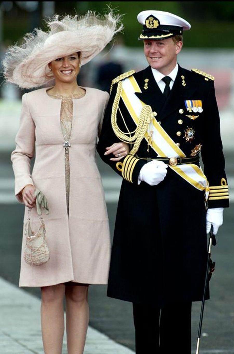La princesse Maxima et le prince Willem-Alexander des Pays-Bas à Madrid, le 22 mai 2004