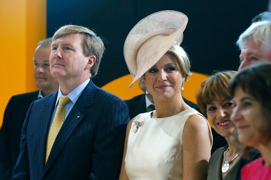 La reine Maxima avec le roi Willem-Alexander des Pays-Bas en Allemagne, le 4 juin 2013