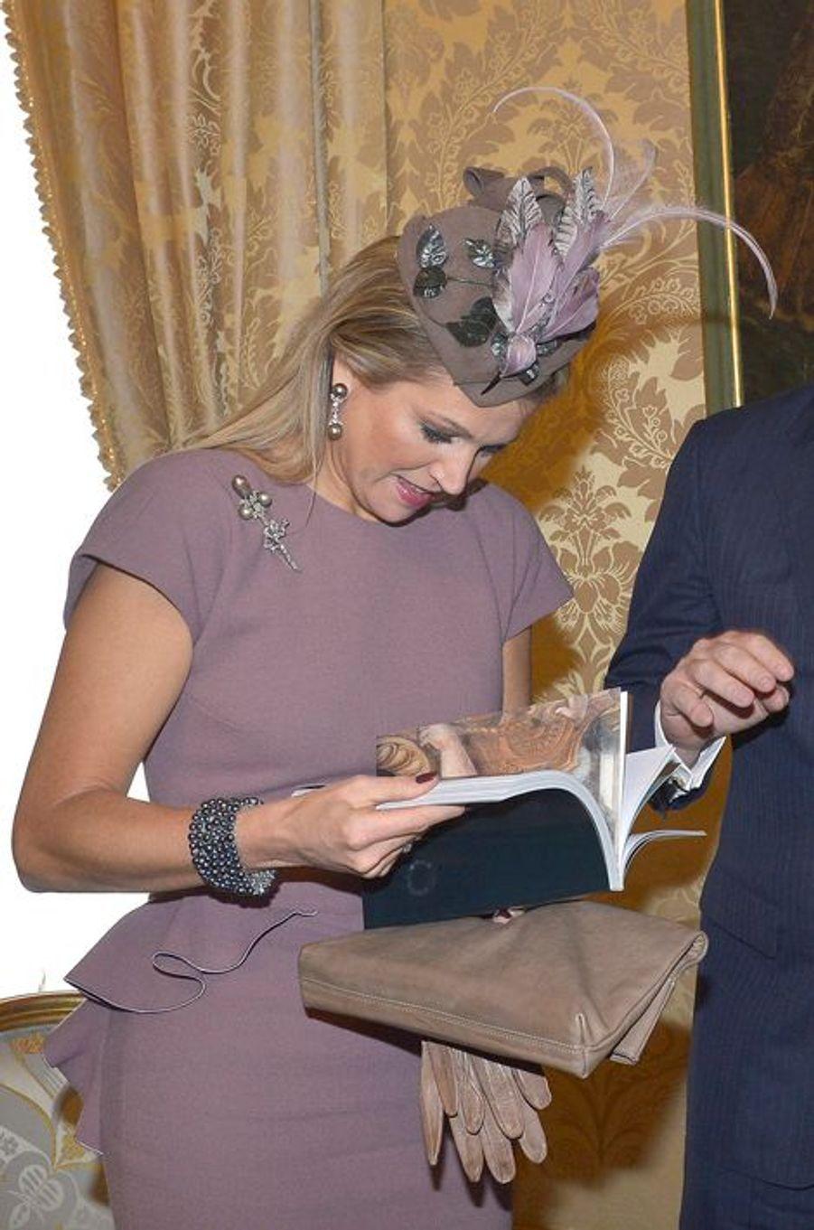 La reine Maxima des Pays-Bas à Rome, le 23 janvier 2014