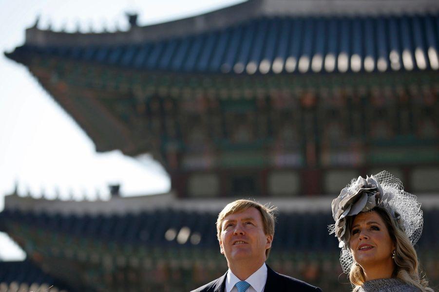 La reine Maxima et le roi Willem-Alexander des Pays-Bas à Séoul, le 4 novembre 2014