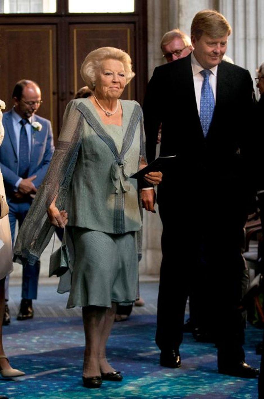 La princesse Beatrix et le roi Willem-Alexander des Pays-Bas à Amsterdam, le 16 juin 2015