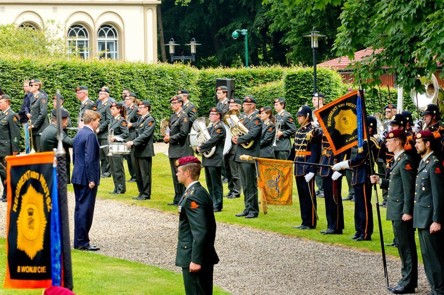 Le roi Willem-Alexander des Pays-Bas à Bronbeek (Arnhem), le 17 juin 2015