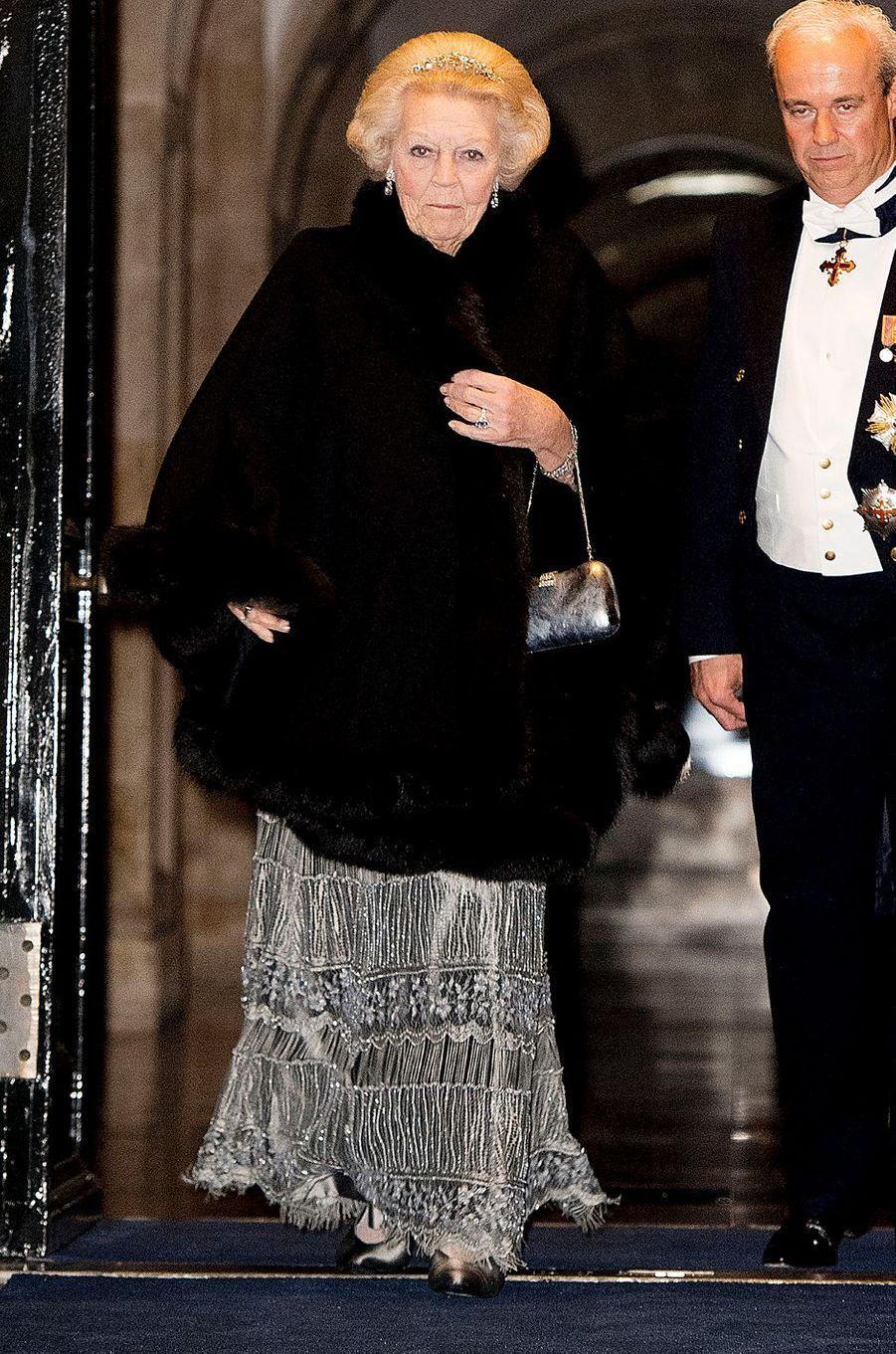 La princesse Beatrix des Pays-Bas au Palais royal à Amsterdam, le 28 novembre 2016