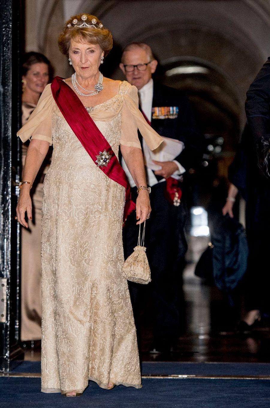 La princesse Margriet des Pays-Bas et son mari au Palais royal à Amsterdam, le 28 novembre 2016