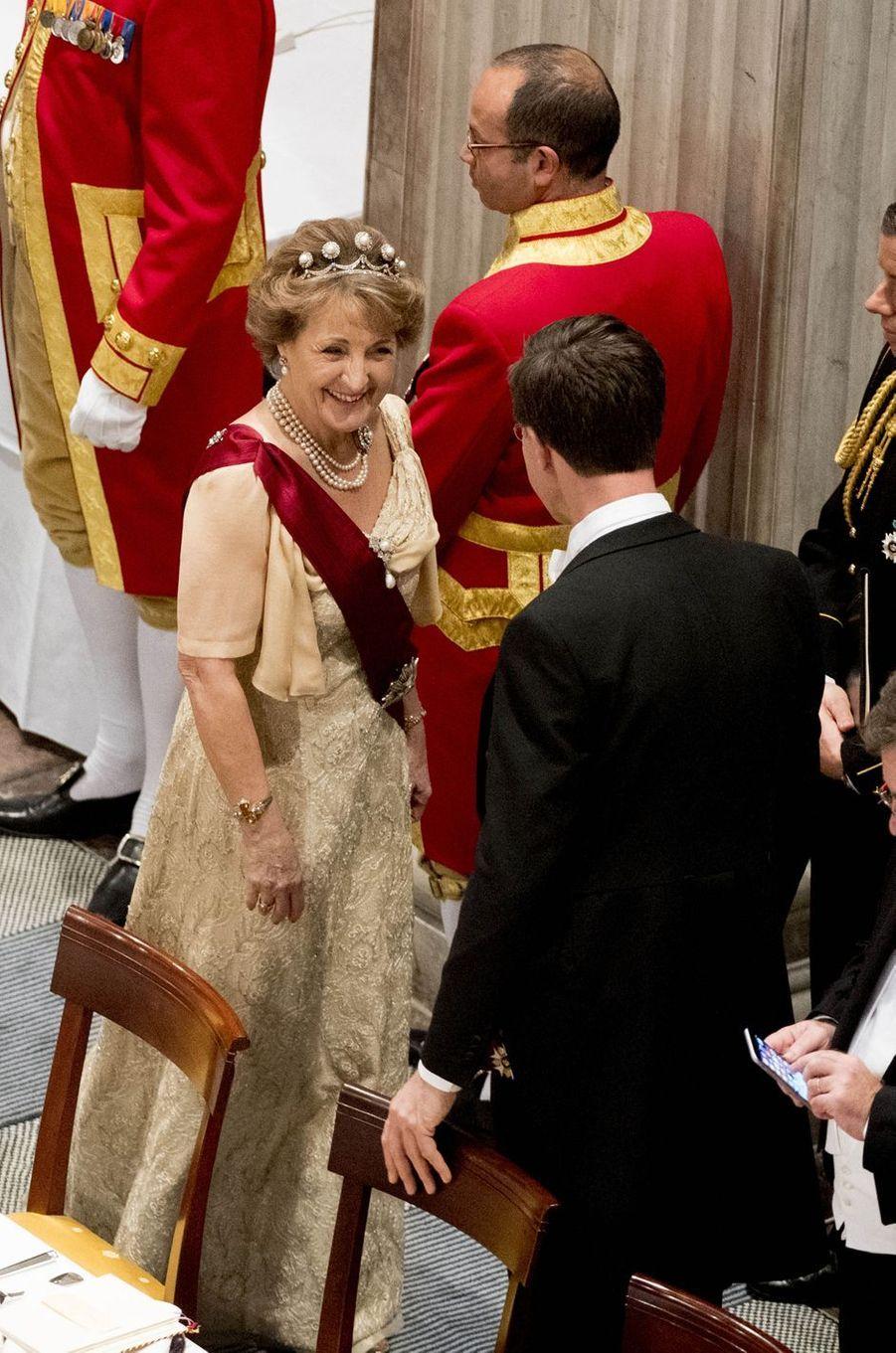La princesse Margriet des Pays-Bas au Palais royal à Amsterdam, le 28 novembre 2016