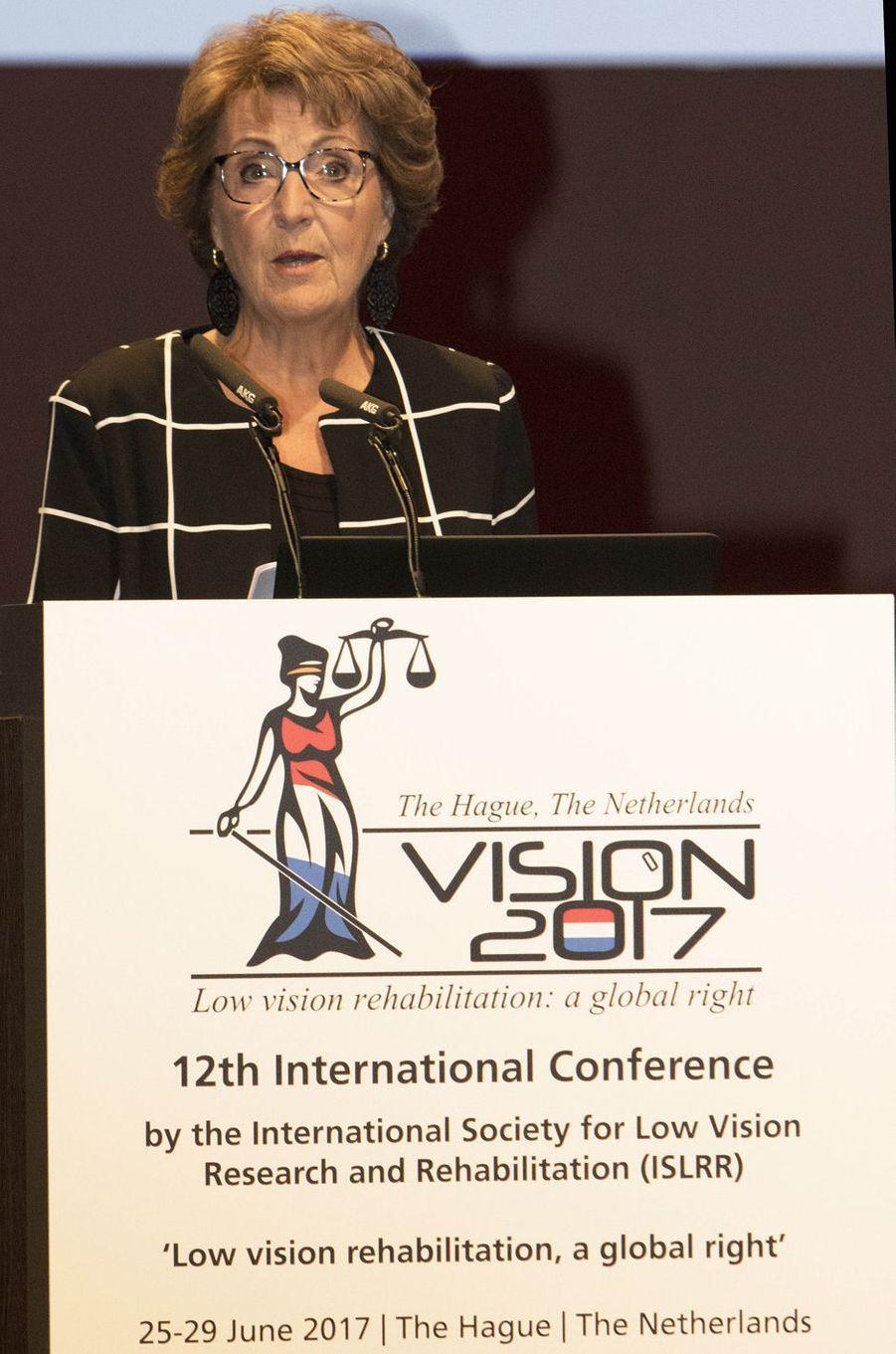 La princesse Margriet des Pays-Bas au congrès international Vision 2017 à La Haye, le 26 juin 2017