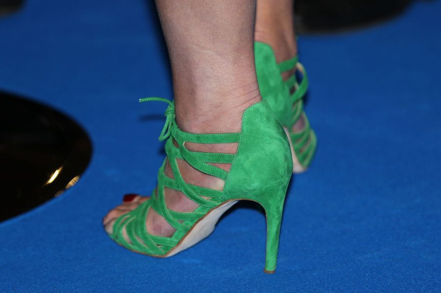 Les chaussures de la reine Maxima des Pays-Bas à Amsterdam, le 26 juin 2017